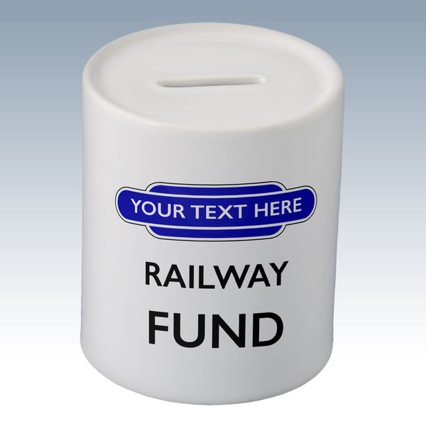 Personalised Totem Railway Fund Money Box (Totem Available in 6 Colours)