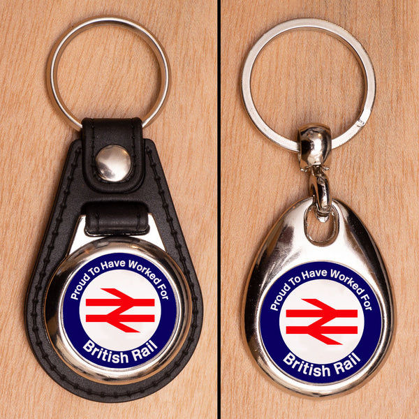 Proud to have worked for British Rail Keyring - Choose PU Leather or Metal