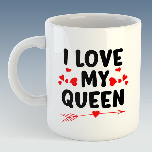 I Love My Queen Mug (Also Available with Coaster)