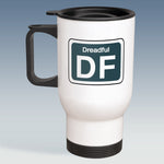 Travel Mug - Humour Shed Depot Sticker 'Dreadful'