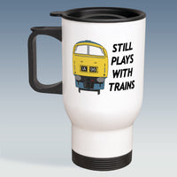 Travel Mug - Still Plays With Trains - Class 52 BR Blue