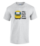 Still Plays With Trains - HST (BR Blue) Printed T-Shirt