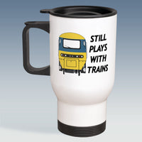 Travel Mug - Still Plays With Trains - HST BR Blue