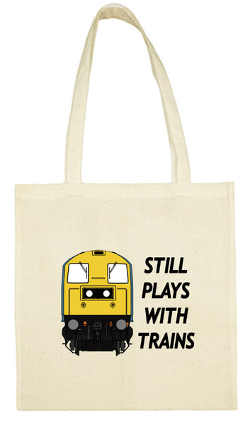 Cotton Shopping Tote Bag - Still Plays With Trains Class 20