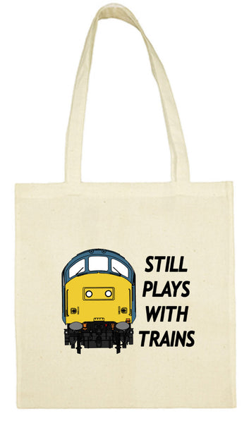 Cotton Shopping Tote Bag - Still Plays With Trains Class 37
