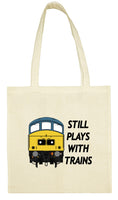 Cotton Shopping Tote Bag - Still Plays With Trains Class 45