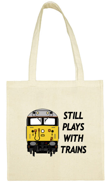 Cotton Shopping Tote Bag - Still Plays With Trains Class 50