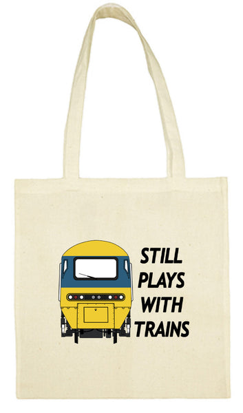 Cotton Shopping Tote Bag - Still Plays With Trains HST