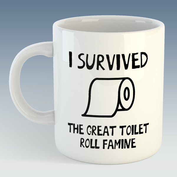 I survived the great toilet roll famine Mug (Also Available with Coaster)