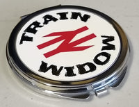 Train Widow with BR Double Arrows - Round Compact Mirror