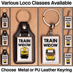 Train Widow Loco Keyring - Choose Loco Class & Metal or PU Leather