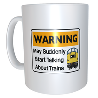 Warning May Suddenly Start Talking About Trains - Class 40 - Mug & T Shirt set