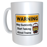 Warning May Suddenly Start Talking About Trains - Class 52 (Maroon) - Mug & T Shirt set