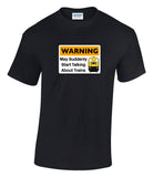 Warning May Suddenly Start Talking About Trains - Class 20 Printed T-Shirt