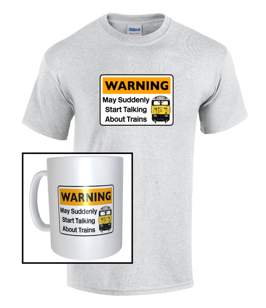 Warning May Suddenly Start Talking About Trains - Class 50 - Mug & T Shirt set