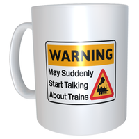 Cranks - Warning May Suddenly Start Talking About Trains Mug (Steam)
