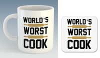 World's Worst Cook Mug (Also Available with Coaster)