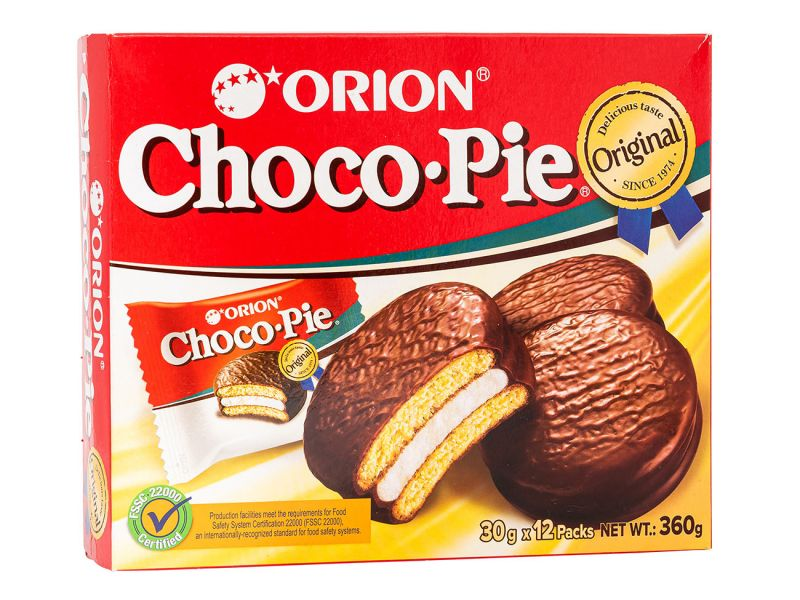 Choco Pie Coreano sabor Chocolate - Orion - 360g