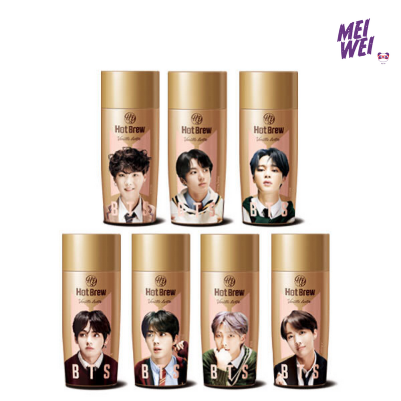 Café BTS sabor leite e baunilha J-hope - 270ml - Natural Way - Mei Wei