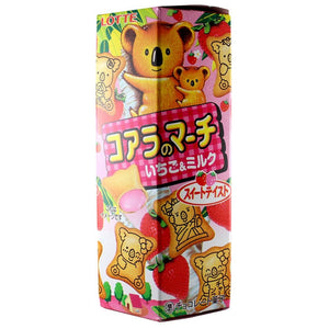 Biscoito Japonês Recheado Morango Strawberry Koala March - Lotte - 48g - Mei Wei