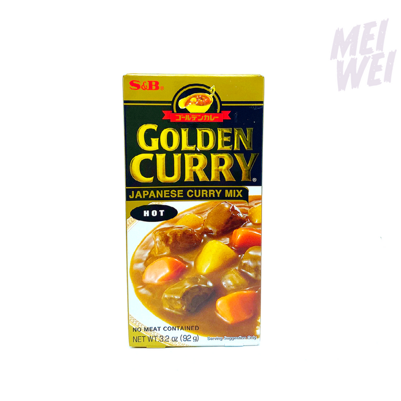 Condimento Japonês Golden Curry Karê Hot - S&B - 92g