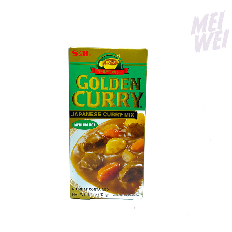 Condimento Japonês Golden Curry Karê Medium Hot - S&B - 100g
