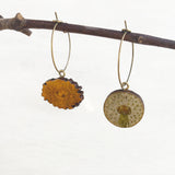 Dandelion post earrings