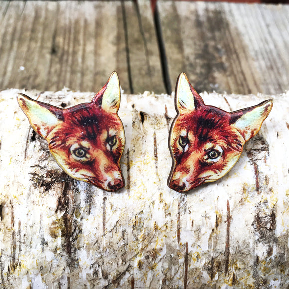 Fox collar pins