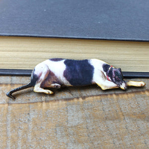 Greyhound Whippet brooch