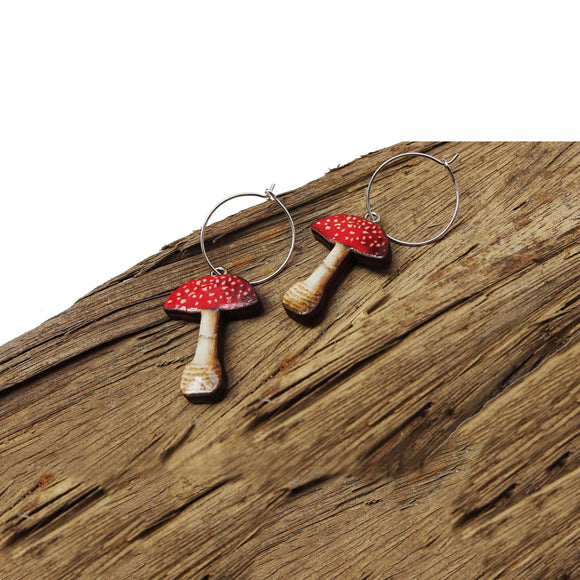 Fly Agaric earrings