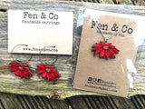 Mistletoe necklace and earrings