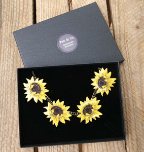 Large Sunflower necklace