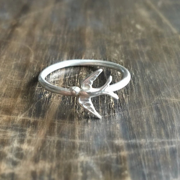 Eco silver Swallow ring
