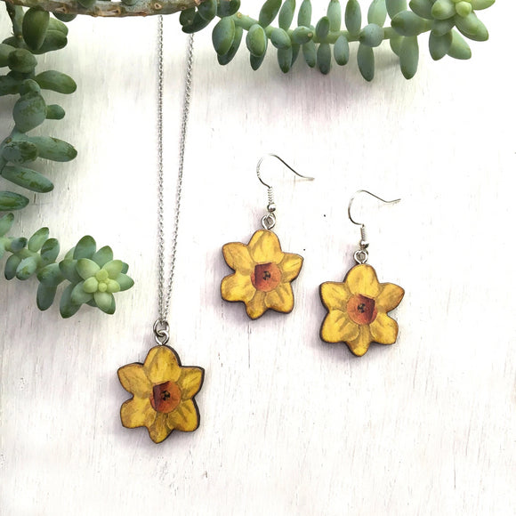 Daffodil earrings or necklace