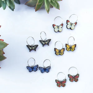 Small British butterfly earrings