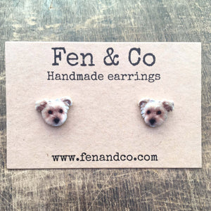 Photo pet earrings