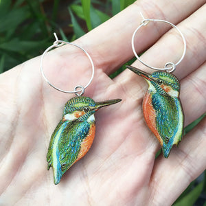 Kingfisher earrings