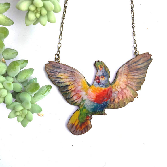 Pink Cockatoo necklace