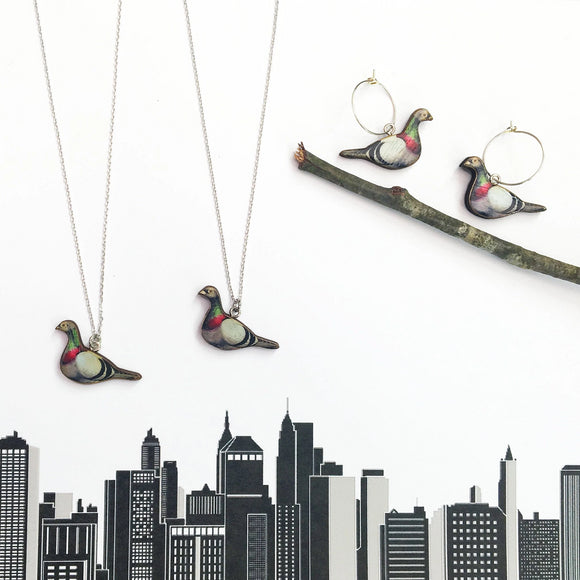 Pigeon necklace