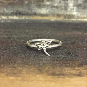 Eco silver Dragonfly ring
