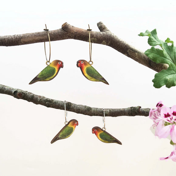 Love bird earrings