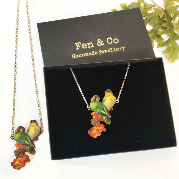 Fairy tale bird necklace