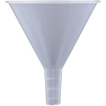 Plastic Polypropylene Funnel 120 mm Wide Stem for use with Solids-Plasticware-TN Lab Supply