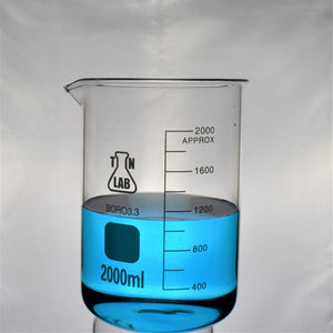 TN LAB Supply Beaker 2000ml Borosilicate 3.3 Glass Beaker