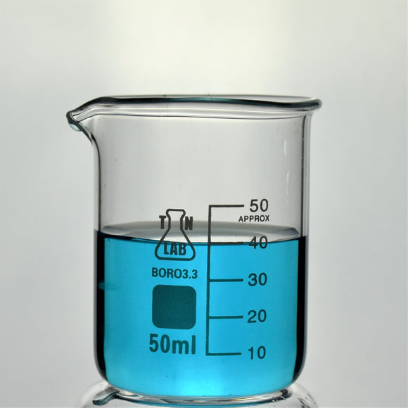 Beaker Borosilicate Glass with Graduations 50 ml