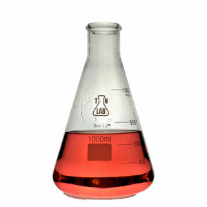 Erlenmeyer Flask Borosilicate Glass Conical Flask 1000ml 1L