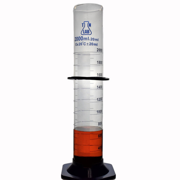 TN LAB Supply Graduated Measuring Cylinder Borosilicate Glass 2000ml