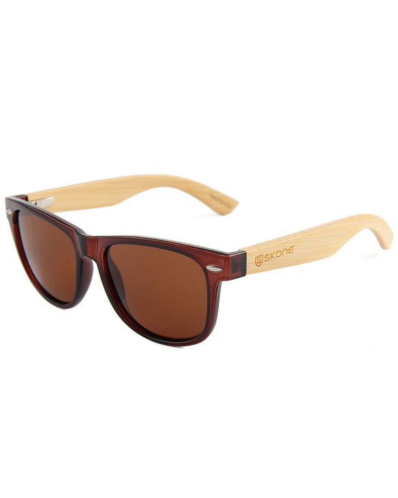 Skone Kalahari Brown Polarised UV400 Bamboo Sunglasses - Brown Tint