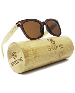 Skone Maropeng Polarised UV400 Bamboo Sunglasses - Brown Lens