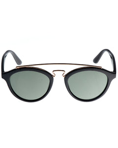 Skone Clifton Brow Bar Sunglasses - Smokey Black Lens